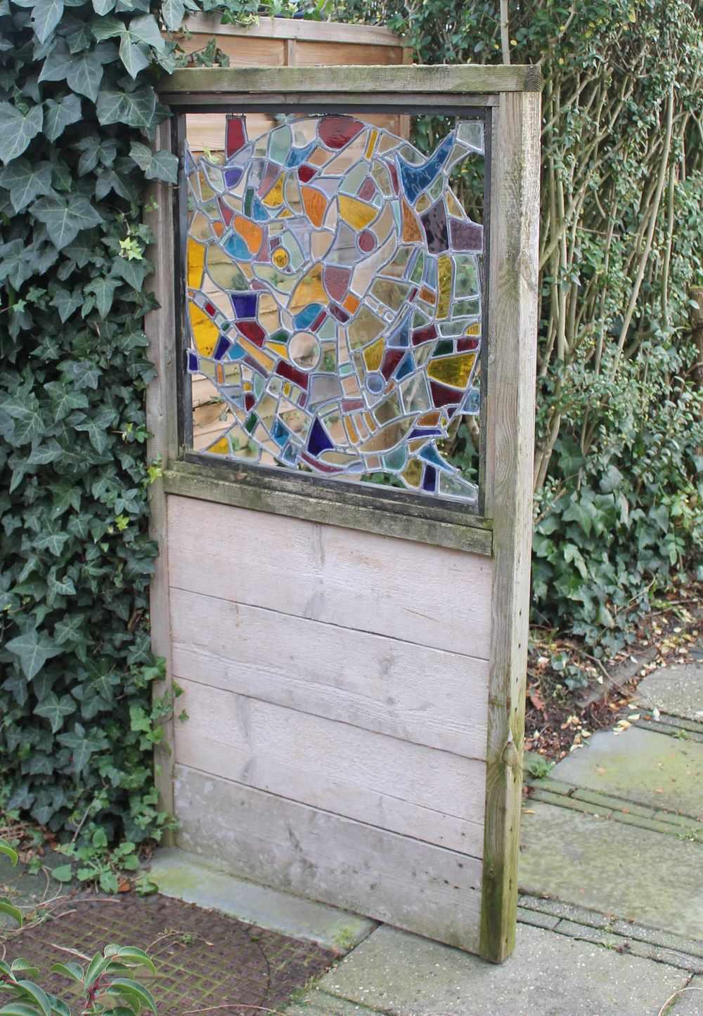 Tuinscheiding glas in lood