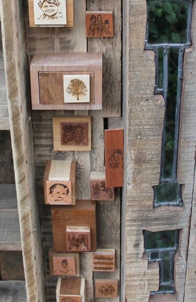 Detail glas in lood kast